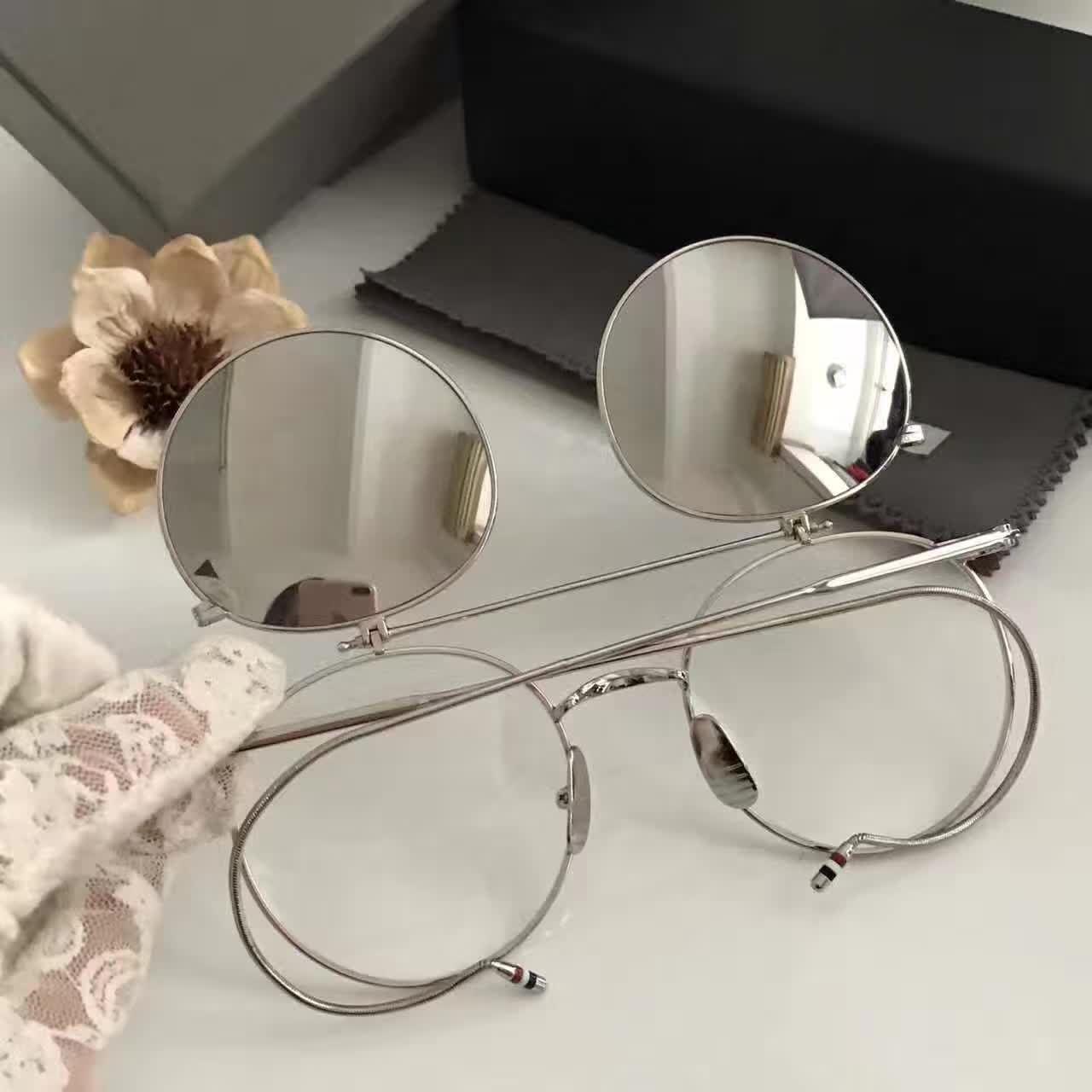 36607ac4865 2017 Men Browne Vintage Flip Up Silver Eyeglasses Sunglasses Frames Brand  New In Box Smith Sunglasses Sunglasses At Night From Baiyu168