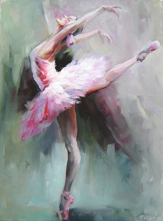 2018 Framed Handmade Abstract Ballerina Dancer Painting Swan Lake ...