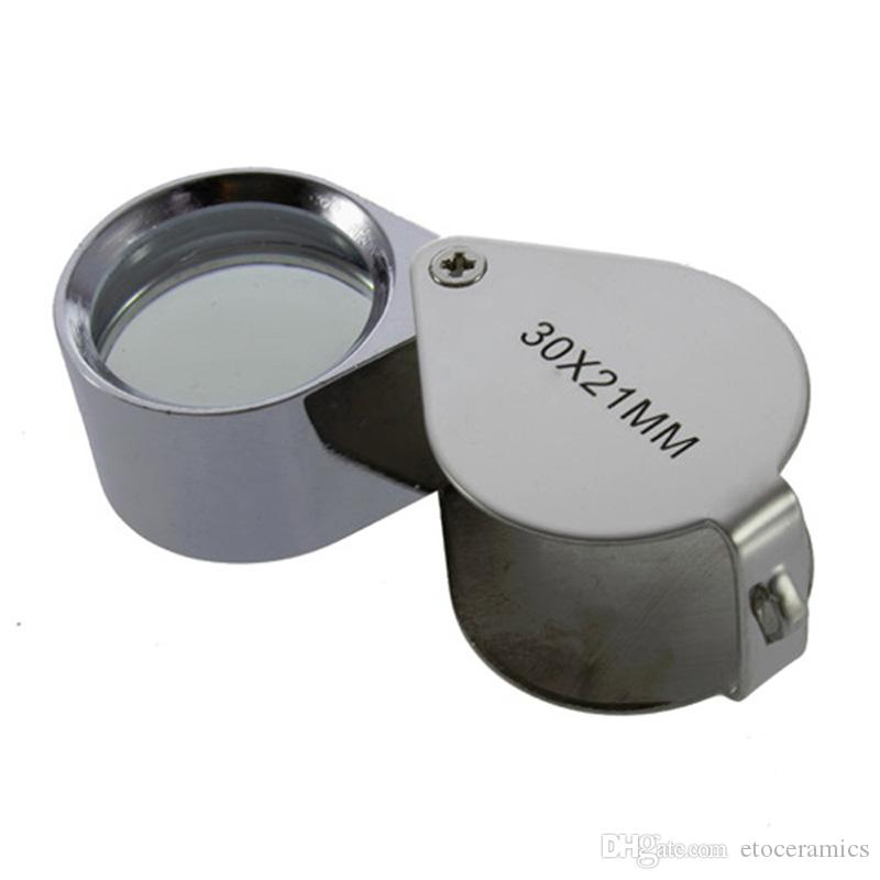 30x21mm Jewelers Eye Loupe Magnifier Magnifying Glass for Jewelry Diamond