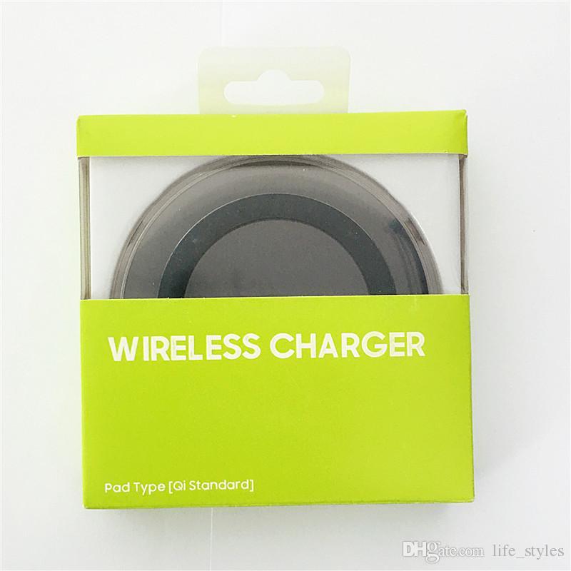 Chargeur universel sans fil pour chargeur de batterie Samsung Galaxy S6 Standard QI pour tous les appareils compatibles Qi avec une boîte de vente au détail