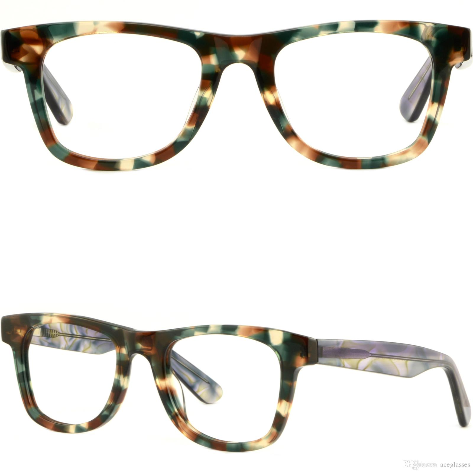 4e8352409cb Thick Strong Womens Frames Large Wide Acetate Prescription Glasses Spring  Hinges Kawasaki Eyeglasses Frames Lei Eyeglass Frames From Aceglasses