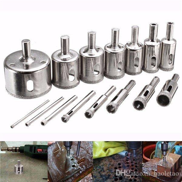 3-45mm Diamond Coated Core Hole Saw Drill Bit for Marble Tile