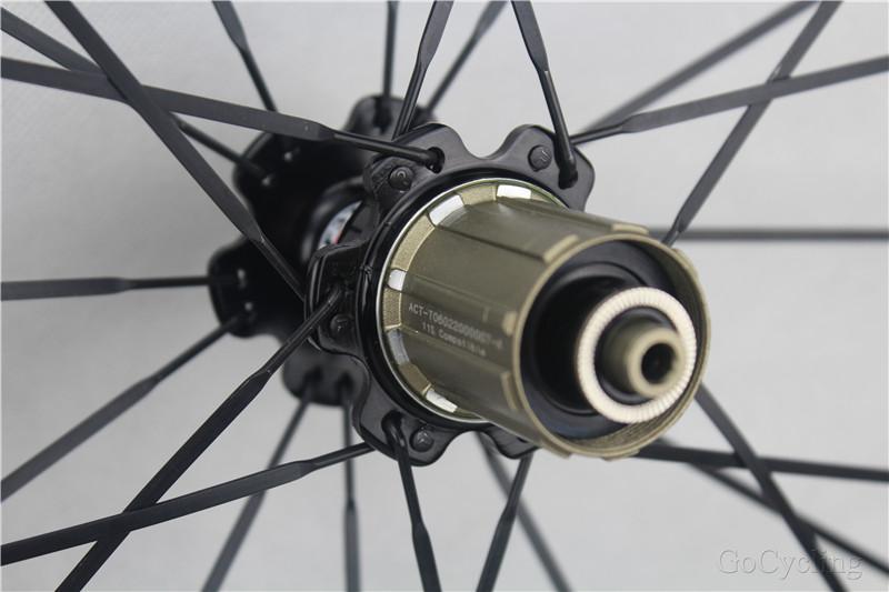 carbon bicycle wheels 50mm glossy clincher tubular road cycling bike racing 700C wheelset with novatc hubs Basalt brake surfce