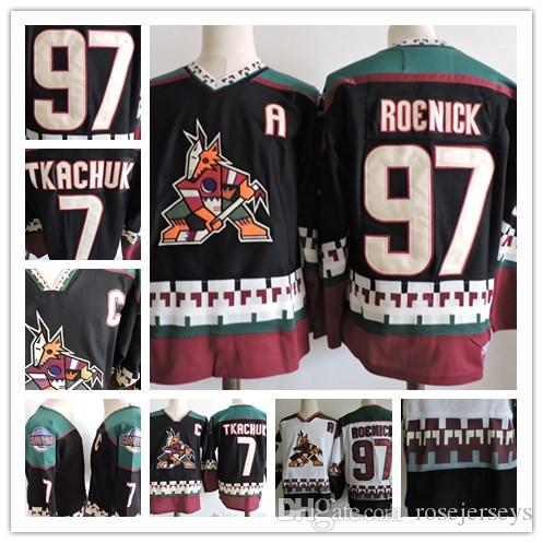 Custom Phoenix Coyotes Vintage Jersey  97 Jeremy Roenick 7 Keith Tkachuk  Black White 1998 CCM Retro Daniel Briere Stitched Hockey S 3XL Canada 2019  From ... 2e7173680