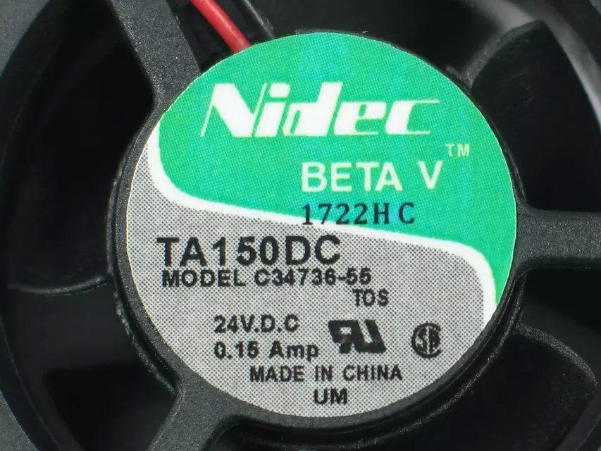 Nidec C34736-55, TOS DC 24V 0.15A 2-Draht 3-poliger Stecker 60mm 40x40x20mm Server Quadratischer Lüfter