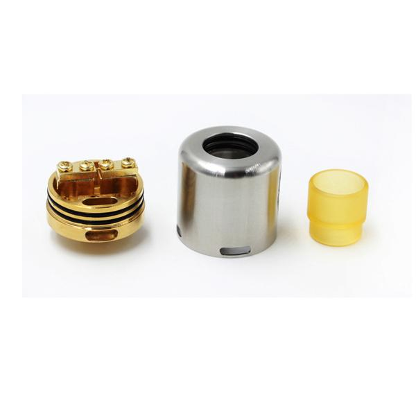 Mask RDA Atomizer High clone newest SS Black Gold Tank 24MM Wide Bore PEI DRIP TIP Fit 510 ECigarette Mods Bottom Air flow system adjustable