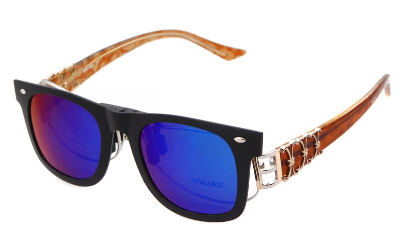Fashion Square Polarisierte Clip On Sonnenbrille Frauen Männer Flip up Sonnenbrille Blendschutz UV400 Spiegel Sonnenbrille Myopie