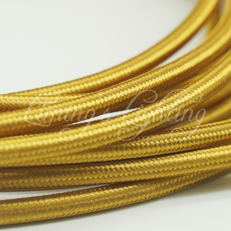 Incredible 2019 8M 2 0 75 Golden Edison Textile Cable Fabric Wire Chandelier Wiring Digital Resources Remcakbiperorg