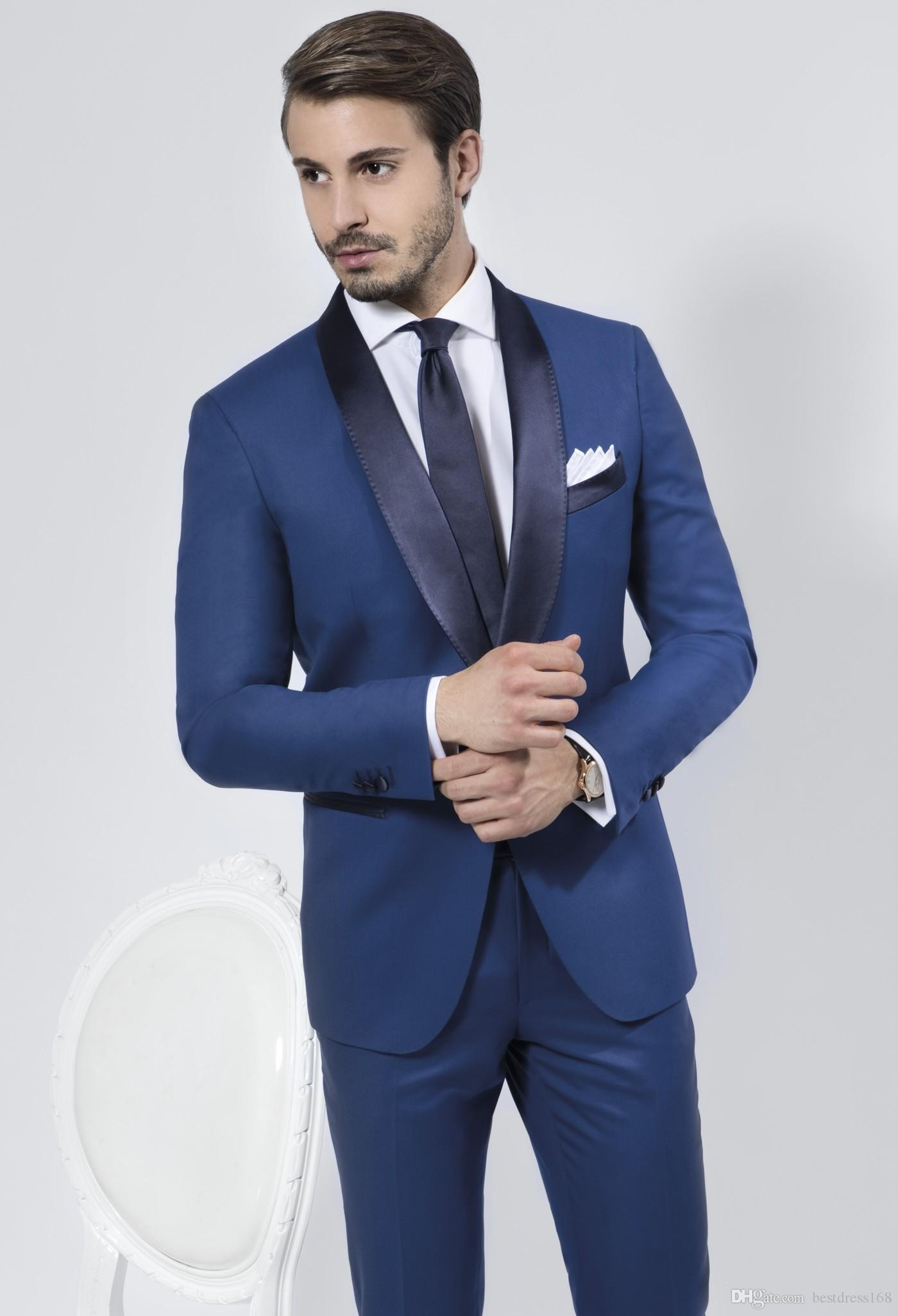 Shop Men\'s Suits & Blazers Online, Blue Wedding Suits For Men Shawl ...