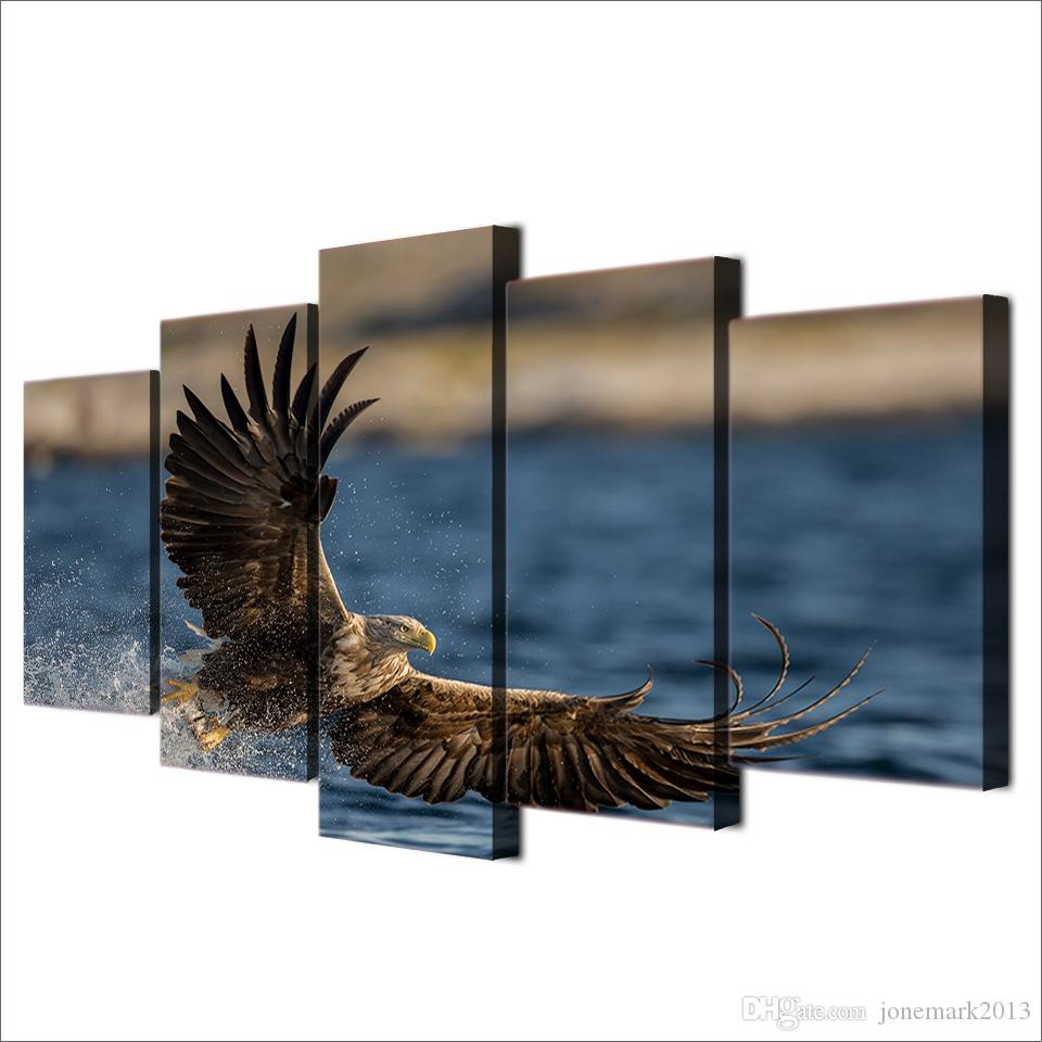 Framed HD Printed Sea Eagle Painting on canvas room decoration print poster picture canvas /ny-1667