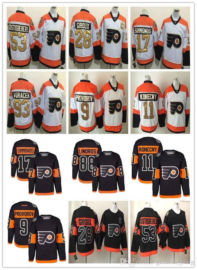the best attitude fdd3c a2784 Stadium Series 2017 Philadelphia Flyers 50th Hockey Jerseys Cheap 28 Giroux  93 Voracek 17 Simmonds 53 Gostisbehere 11 Konecny 9 Provorov