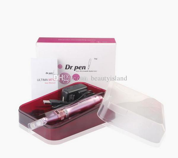 Dermapen Maquillaje permanente Microneedling Pen Derma Pen Skin pen 5 Velocidades Rodillo de microagujas eléctrico con cartucho de agujas