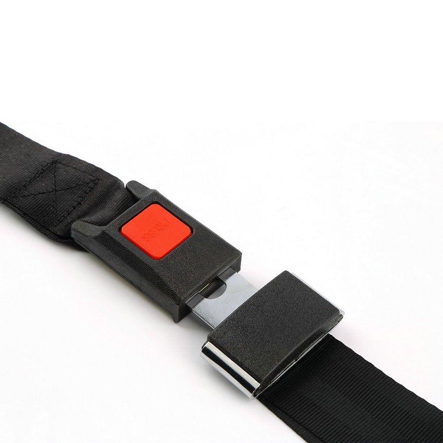 Ceinture de securite rallonge de ceinture de securite universelle pour vehicule automobile Ceinture reglable en deux points noire