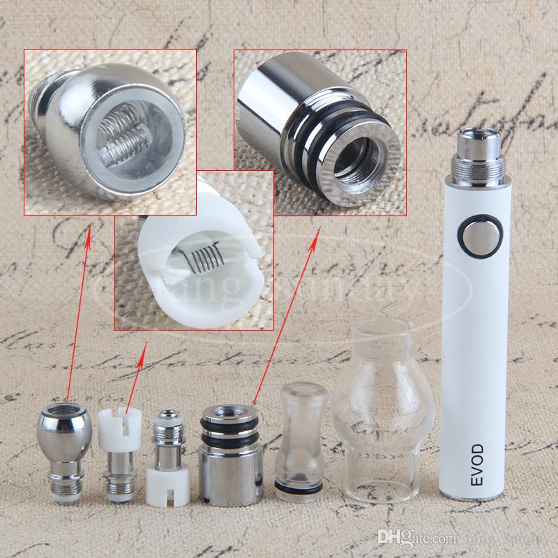 eVod eGo T Globe Tank Pyrex Glass Dome Wax Vaporizer Atomizer Vape Pen Mini Zipper Case Kit for 650 900 1100 mah Batteries