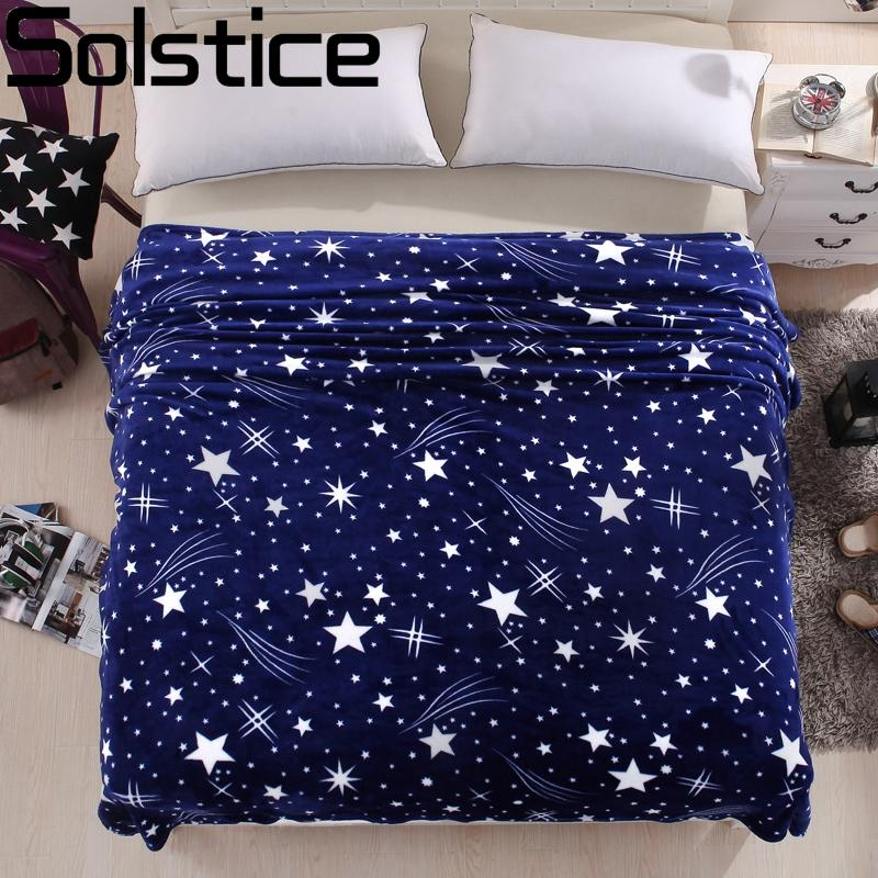 Superb Wholesale Winter Bed Sheets Coral Velvet Warm Blanket Blue Star Adult  Single And Double Bed Blankets Fleece/Sofa/Tv/Travel Blanket Linings Yellow  Throws And ...