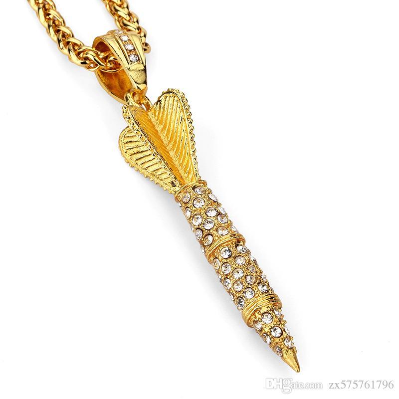 Wholesale New Design Hip Hop Men Fashion Rocket Pendant Necklaces ...