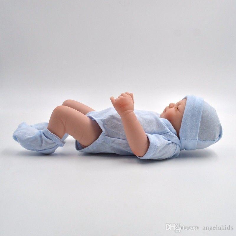 Plein de silicone poupées reborn bébé Reborn bébé poupées à la main Reborn 11 pouces Real Looking Newborn Baby Girl Silicone poupée réaliste