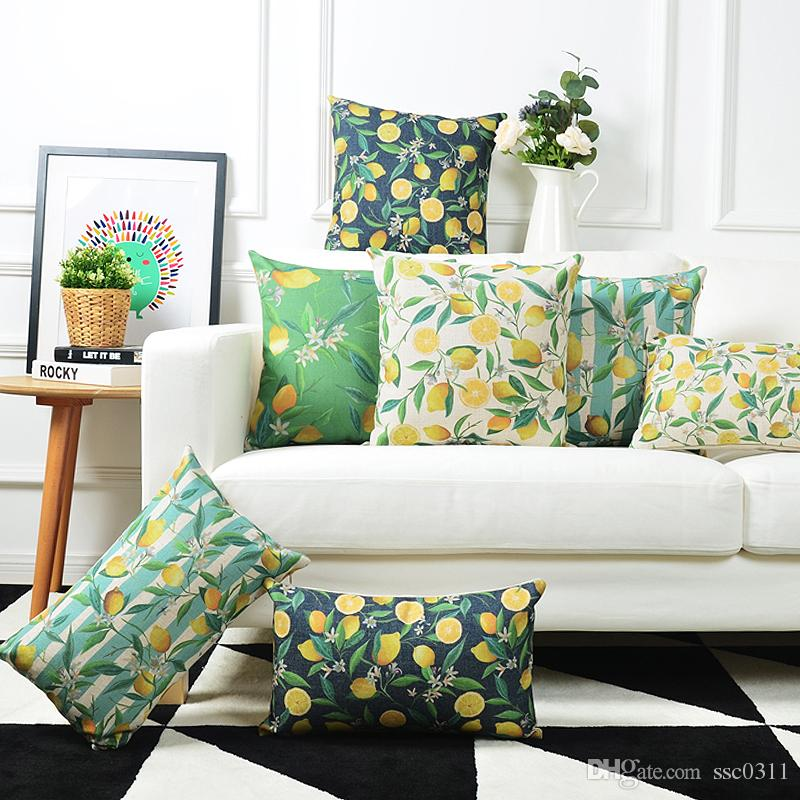 Pastoral Style Decorative Pillows For Sofa American Village Cushion Cover  45x45cm Exquisite Comfortable Lemon Sofa Cushion 24 Inch Outdoor Cushions  Outdoor ...