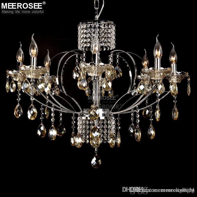 Modern crystal chandelier wholesale cognac crystal suspension drop modern crystal chandelier wholesale cognac crystal suspension drop light fixture for bedroom living room kitchen e14 bulbs simple chandelier ship chandelier aloadofball Images