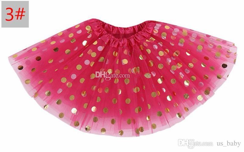 Girls polka dot skirt Baby /Kids christmas tutu skirts Toddler gold dot skirts red pettiskirt photography props
