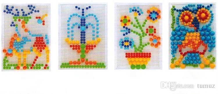 مجموعات ديي التعليمية الفطر الأظافر لغز لعب الأطفال عقد مناسبة بشكل مناسب مسمار حبة 296 مجتمعة اللبنات الإبداعية