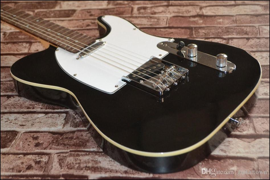 Un cou (pas d'écharpe)! Guitares Electriques Solid Body Telecaster Black couleur OEM en stock