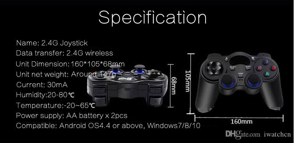 by Post Custom Made 2.4G Wireless Game Controller Gamepad Joystick mini keyboard remoter for universal Android tv boxes and Smartphone