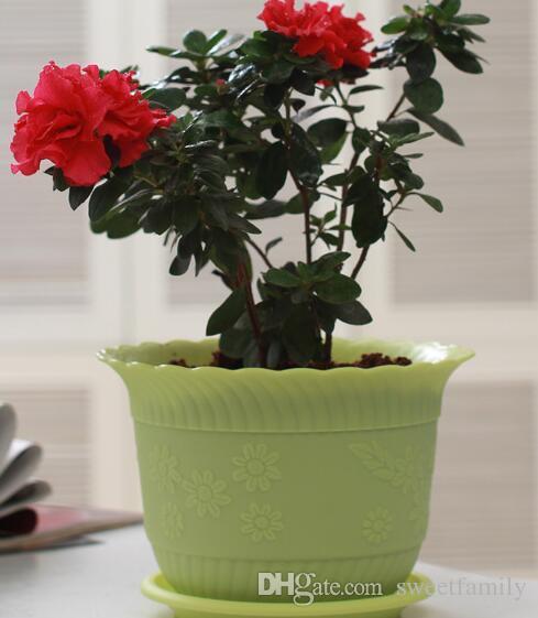 Planters Latest Breathable Plastic Table MiniHersteller Großhandel Welle Spitze Lotus Becken Indoor-Balkon grüne Pflanze Harz Kunststoff Blumentopf