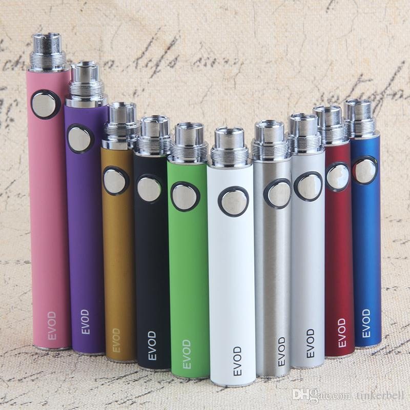 EVOD Battery e cigarette battery 510 Thread vaporizer vape pen mt3 CE4 tank 650/900/1100mAh Various Color vs ego t