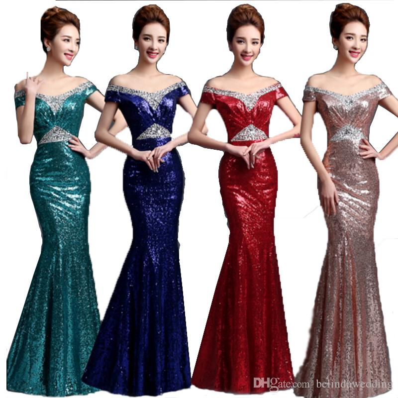 Cheap Sexy Navy Blue Mermaid Junior Bridesmaid Dresses Long Red Nude Pink  Evening Dresses Wedding Prom Dresses Evening Gowns Sequin Mermaid Light  Pink ... 502d75da1e66