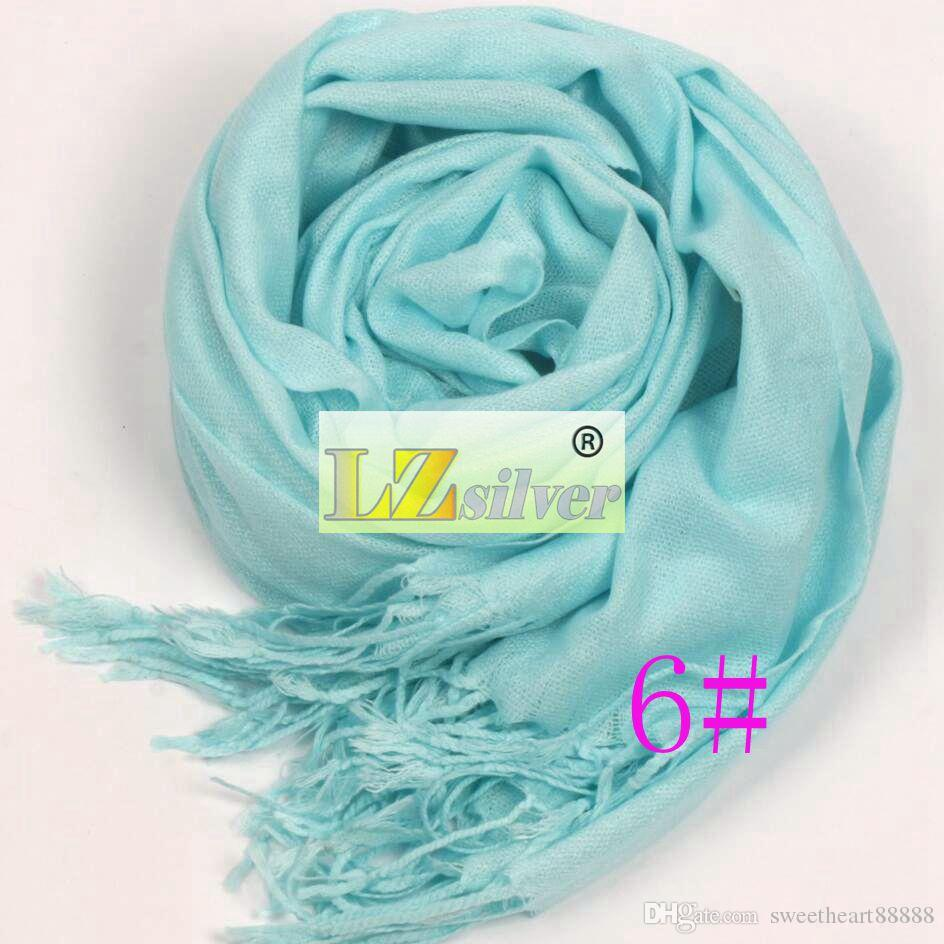 2017 Hot Pashmina Cashmere Solid Shawl Wrap Women's Girls Ladies Scarf Soft Fringes Solid Scarf
