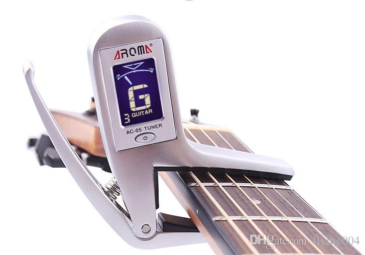 شحن مجاني الكهربائية الصوتية الغيتار كابو موالف لحن التغيير السريع كليب على 2-in-1 تصميم للغيتار باس لوني