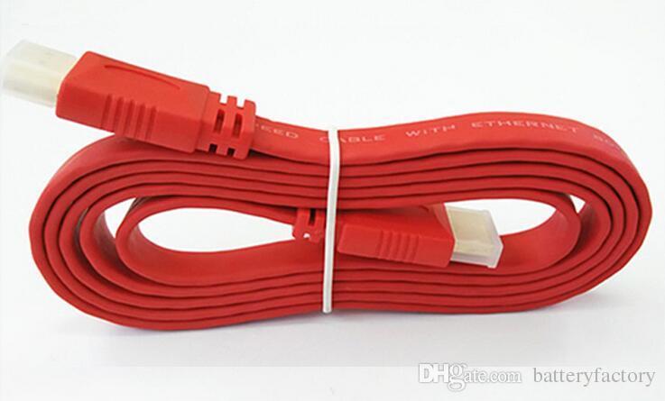 Cavo HDMI da 1.5M HDMI a HDMI Maschio Flat Noodle 24K Ad alta velocità AV Audio Video Wire 1.4 Versione HDTV XBOX digitale