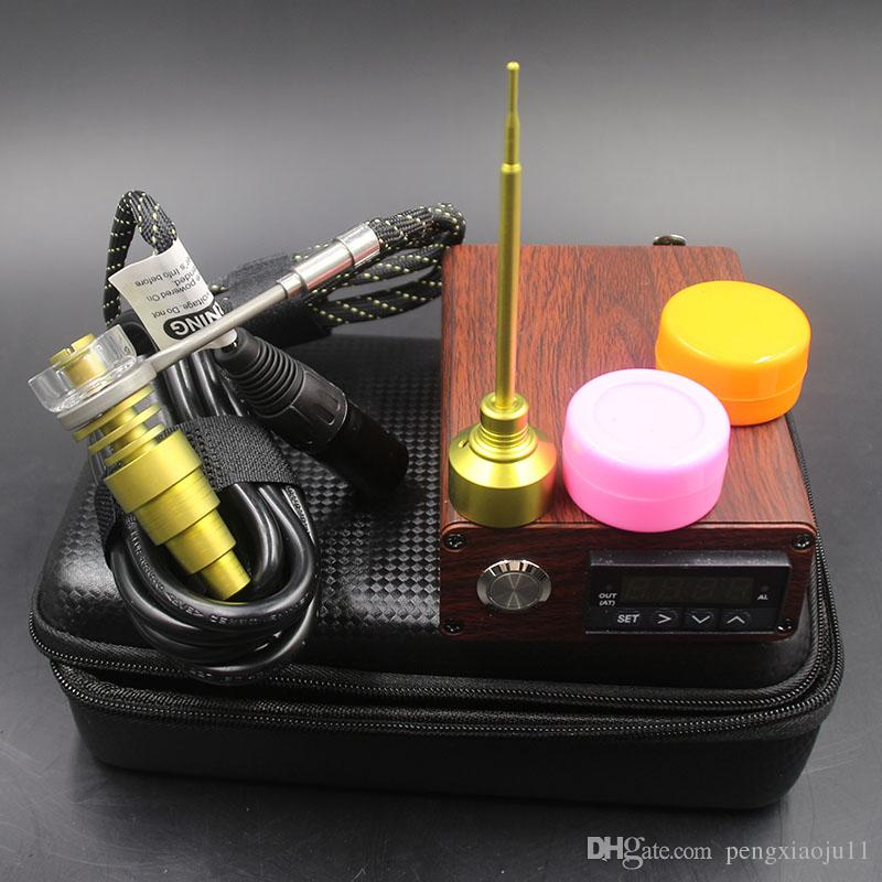 High Quality E Digital Nail kit with Kavlar Coil PID Temperature Control Box Mod Digital Essential Oil Vaporizer Kit for glass bong