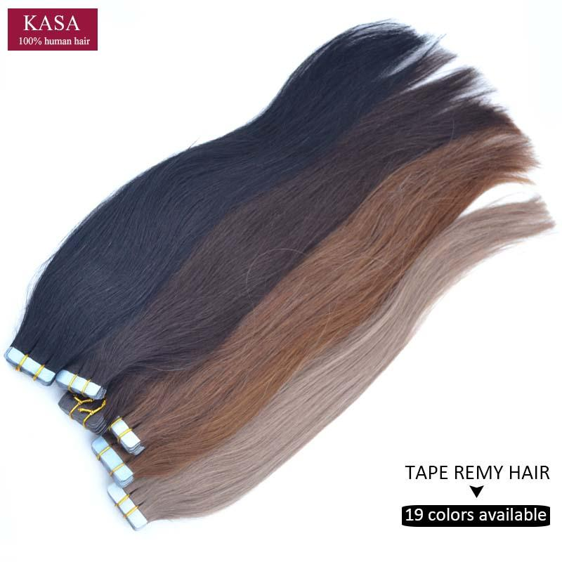 Wholesale Pu Tape Skin Weft Hair Extensions Straight 20 51cm 50gram