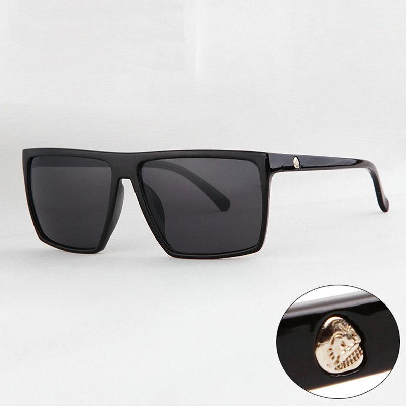 73dc5fcedef4d Compre Atacado Marca Steampunk Quadro Crânio Quadrado Masculino Óculos De  Sol Dos Homens Muti Cor Oversized Grande Óculos De Sol Para Homens Mulheres  Óculos ...