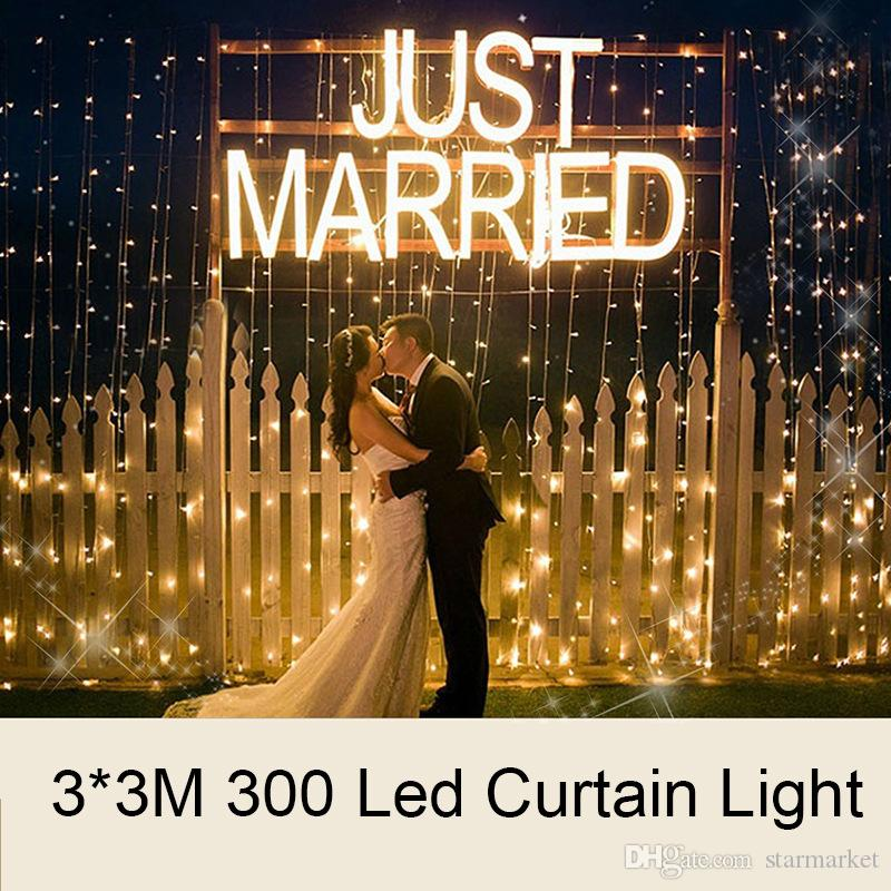Cheap 2018 New Year Lights 3x3m 300 Leds Window Curtain Icicle ...