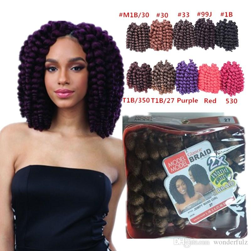 Freetress Wand curly crochet hair Bouncy twist crochet braid Bounce twist 10 inch braids Havana Mambo Twist crochet hair extension