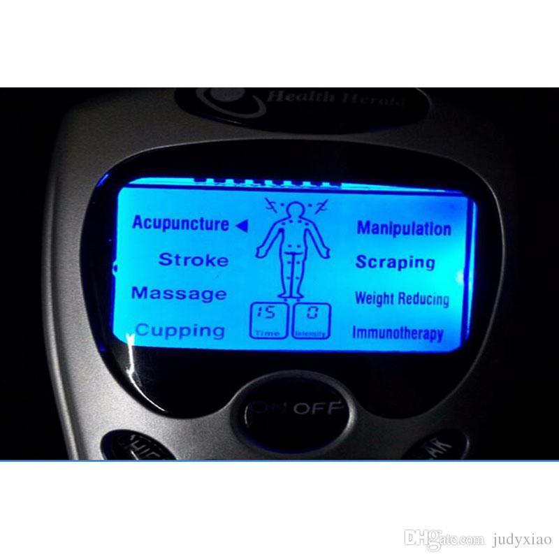 Soins de santé pour adultes Massage Digital Therapy Machine Gadgets D'acupuncture Gadgets Choc Elecric Massager Du Corps Complet Avec 20 Patchs