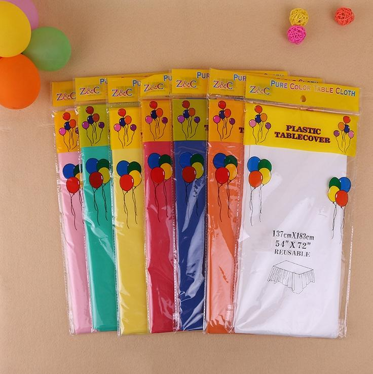 Wholesale Household Items Solid Color Party Table Cloth Degradable