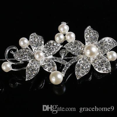 Fashion Wedding Bridal Headpiece Hair Accessories with Pearl Bridal Crowns and Tiaras Head Jewelry Rhinestone Bridal Tiara Headband Noiva