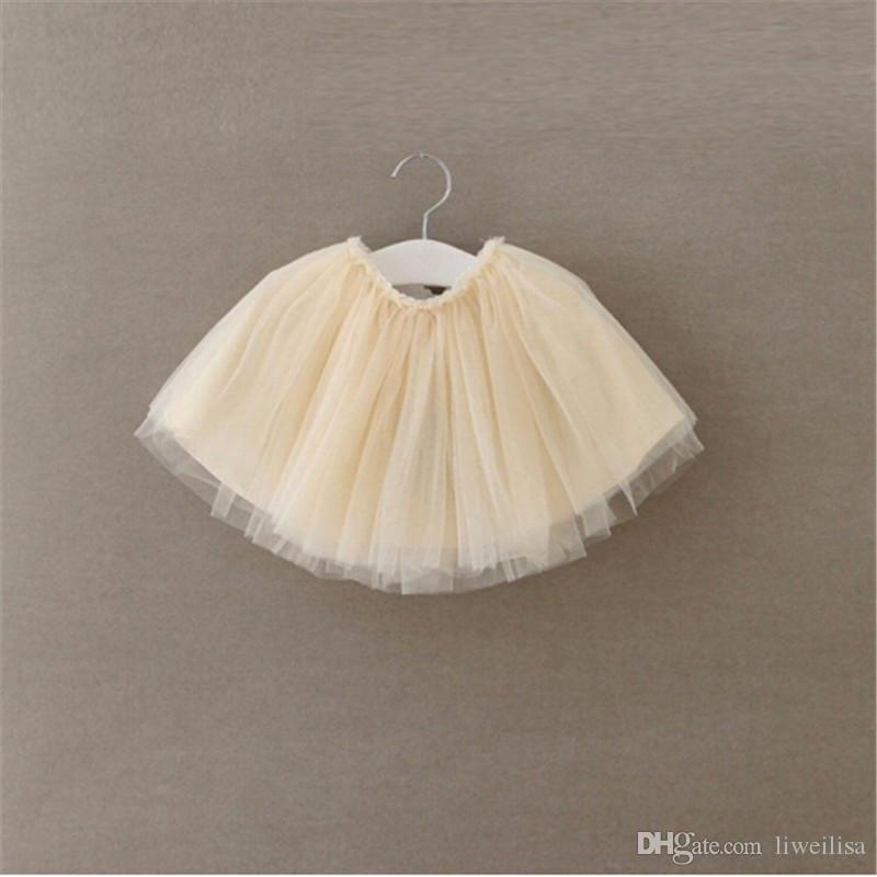 2017 Baby Girl Pettiskirts Net Veil Skirt Kids Cute Princess Clothes Birthday Gift Toddler Ball Gown Party Kawaii TUTU Skirts
