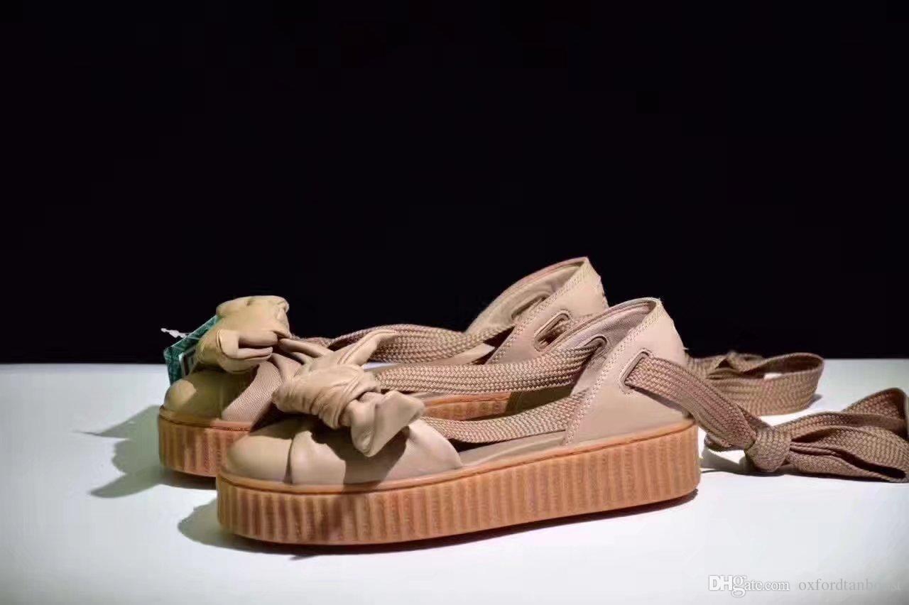 6b0bc154f33 New Womens Rihanna Fenty Bow Creeper Sandal