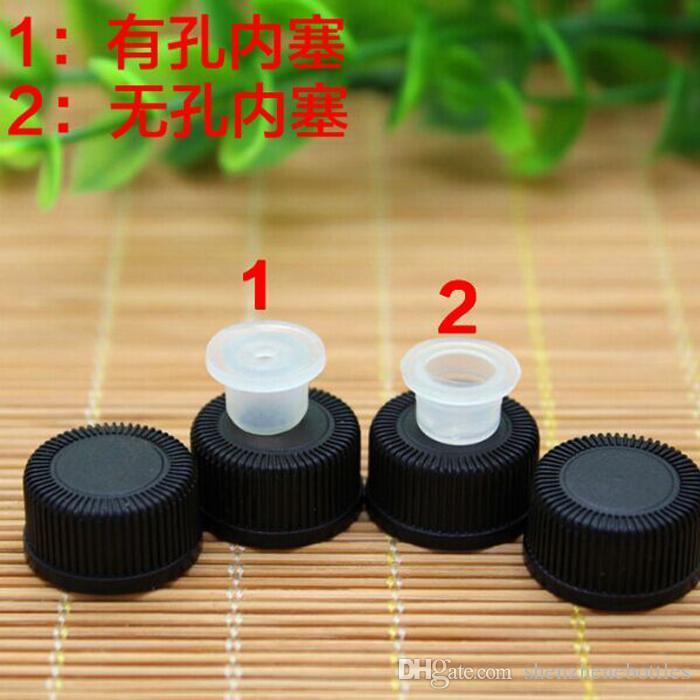 Venta caliente 2 ml Botellas de Muestra de Aceite Esencial Viales Ambar Mini Botellas De Vidrio Con Reductor de Orificio Y Tapón de Tornillo De Plástico Negro Envío Gratis