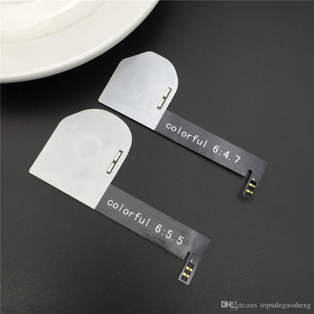 Touchable Led Light Touch Logotipo Brilhante para Iphone 6 6 S Plus Incandescência logotipo DO DIODO EMISSOR de LUZ Do Logotipo do arco-íris led mod para o iphone 6 6 plus