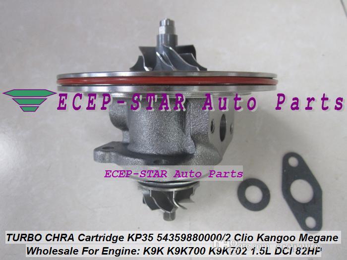 Turbo CHRA kartuşu KP35 54359700011 54359880011 54359880033 54359700033 Renault Kangoo 2 için turboşarjı Twingo 2 Dacia Logan K9K 1.5L DCI
