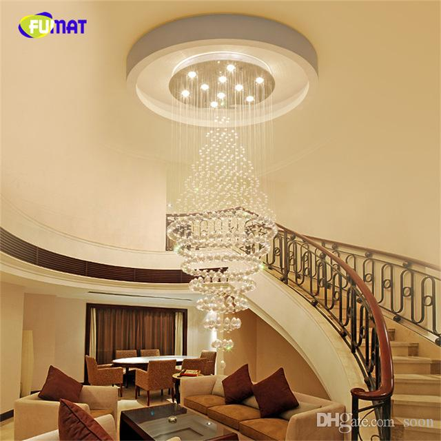 2018 Double Staircase Pendant Lighting Living Room Lamps Club Creative  Villa Hotel Restaurant Lobby Double Crystal Pendant Lamp From Soon, $210.82  | Dhgate.