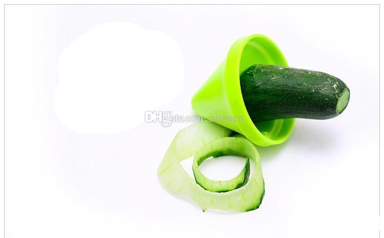 Son Sebze Parçalamak Cihaz Mutfak Aletleri adget Huni Modeli Spiral Dilimleme Pişirme Salata Havuç Turp Kesici