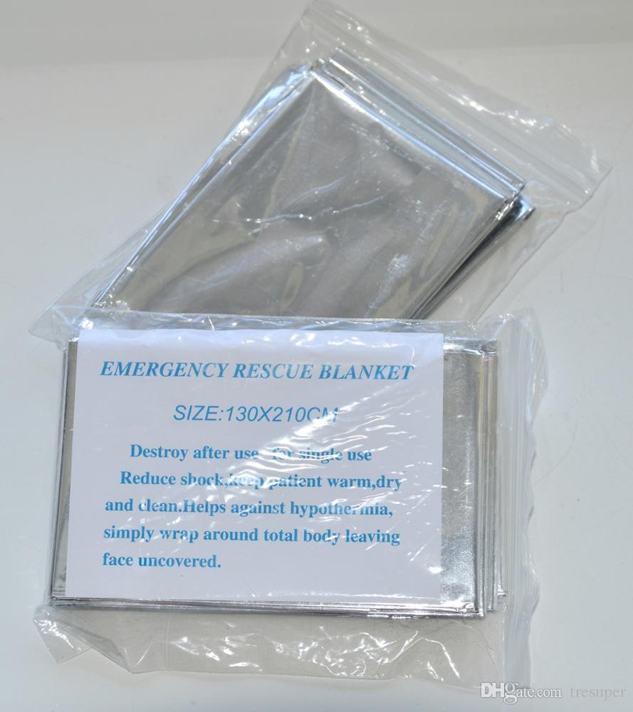 Emergency blanket Portable Water Proof Emergency Survival Rescue Blanket Foil Thermal Space First Aid Sliver Rescue Curtain Outdoor