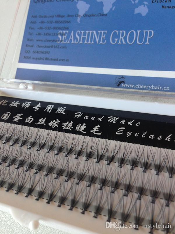Fashion Professional Makeup Individual Cluster Eye Lashes Grafting Fake False Eyelashes Hot Sale free ship
